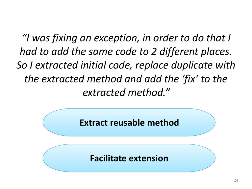 """""""I was fixing an exception, in..."""