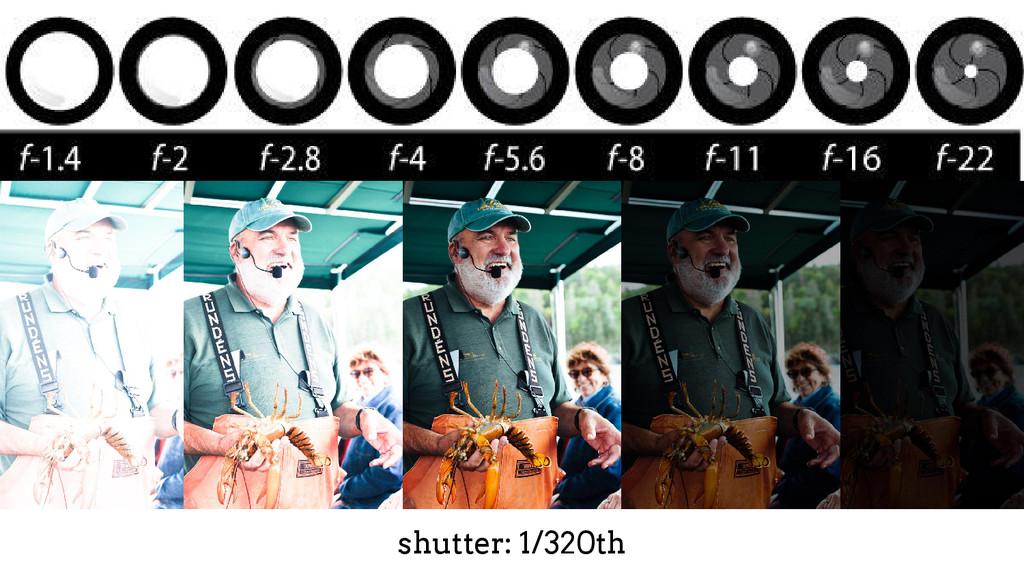 shutter: 1/320th
