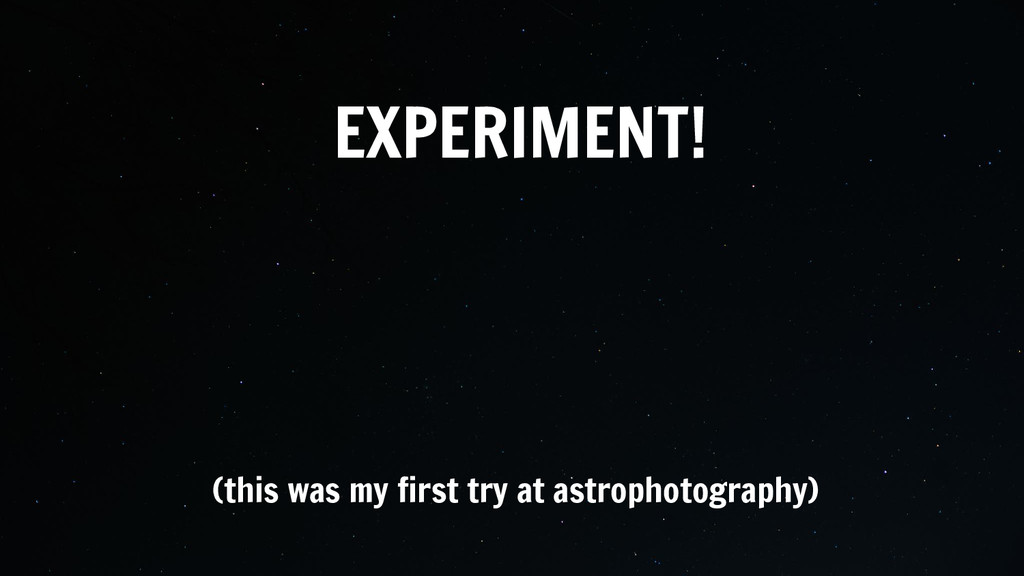 EXPERIMENT!  (this was my first try at astroph...