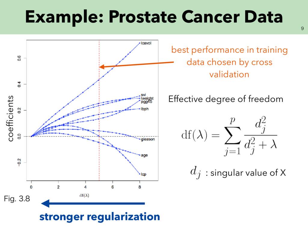 Example: Prostate Cancer Data stronger regula...
