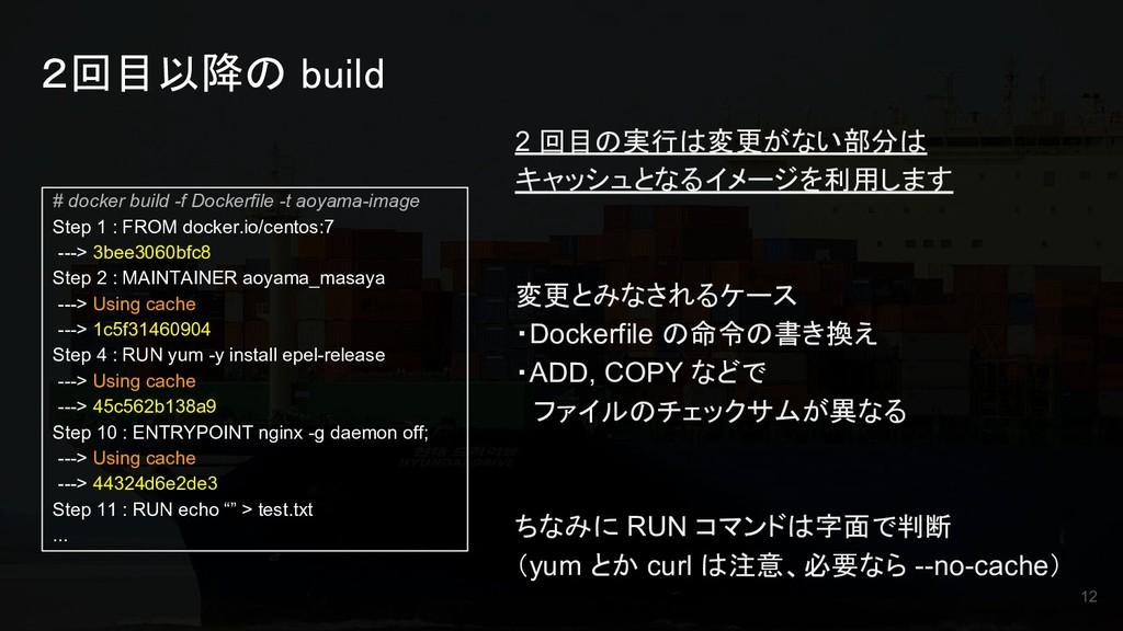 2回目以降の build # docker build -f Dockerfile -t ao...