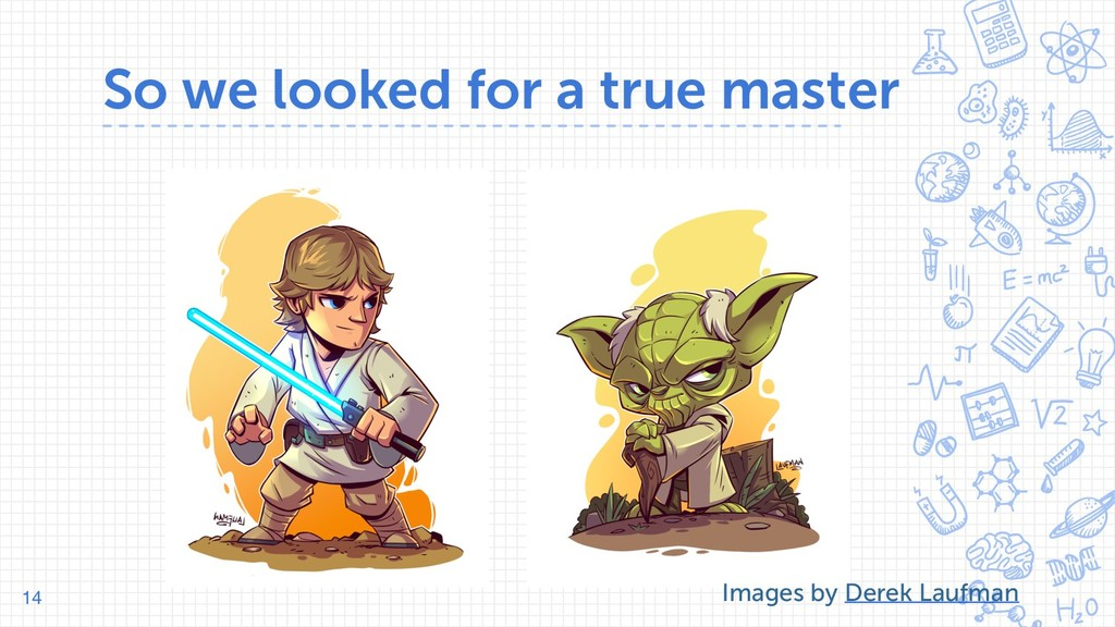 So we looked for a true master 14 Images by Der...