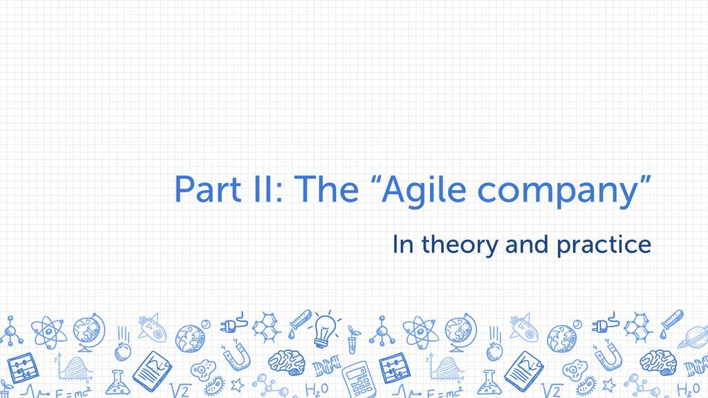 """Part II: The """"Agile company"""" In theory and prac..."""