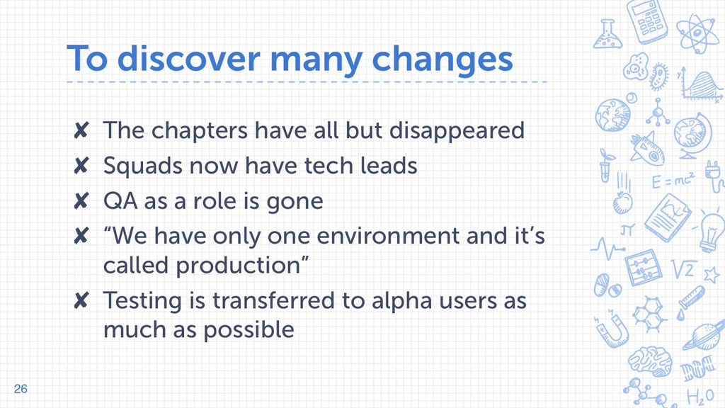 To discover many changes ✘ The chapters have al...