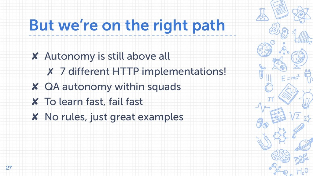 But we're on the right path ✘ Autonomy is still...