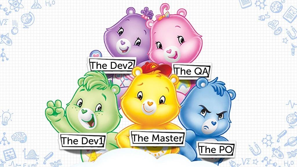 5 The QA The Dev2 The PO The Dev1 The Master