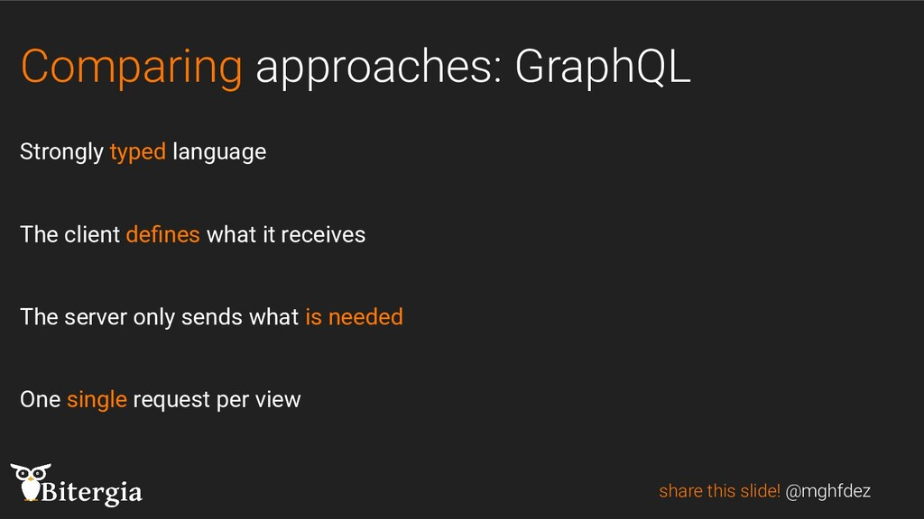 Comparing approaches: GraphQL Strongly typed la...