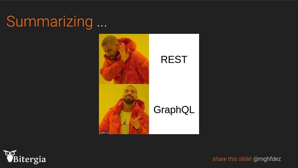 Summarizing ... share this slide! @mghfdez
