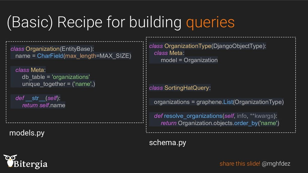 (Basic) Recipe for building queries share this ...