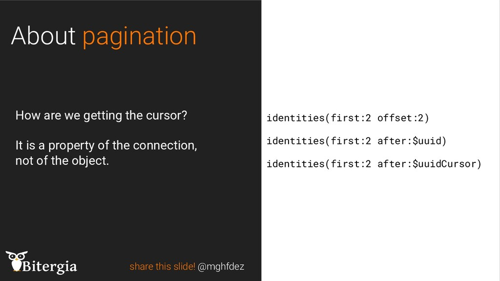 share this slide! @mghfdez About pagination ide...