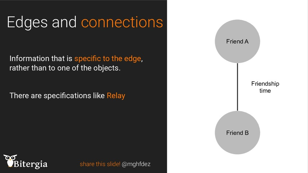 share this slide! @mghfdez Edges and connection...