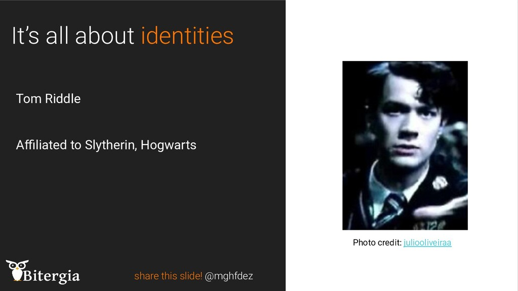 share this slide! @mghfdez Photo credit: julioo...