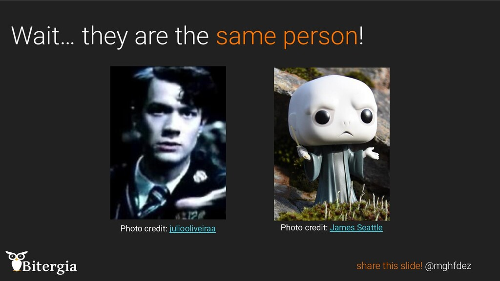 Wait… they are the same person! share this slid...