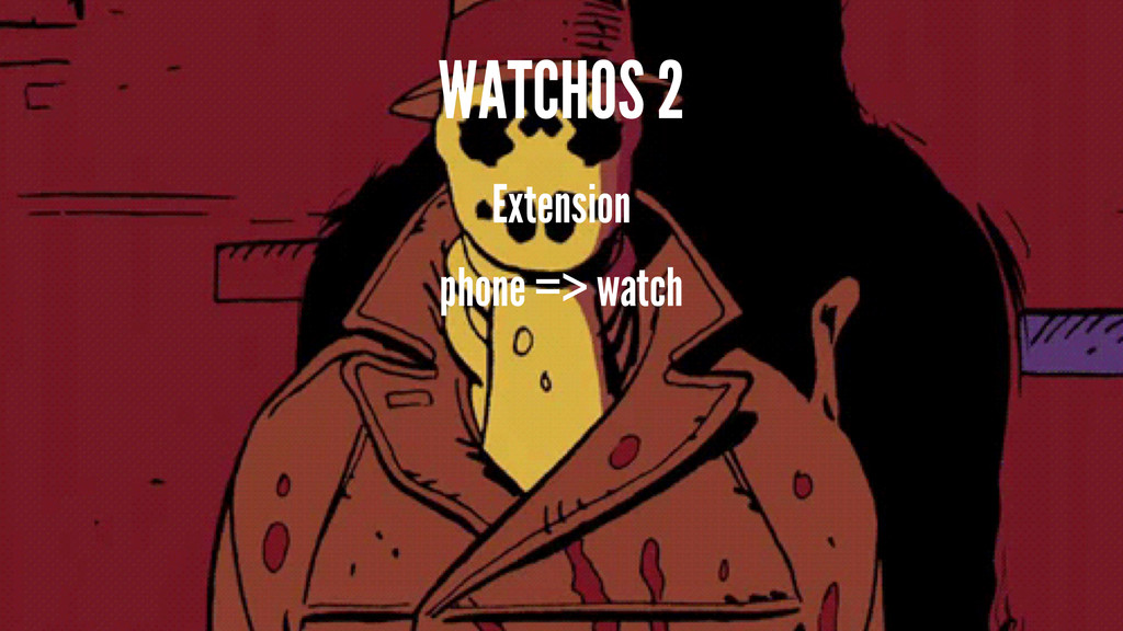 WATCHOS 2 Extension phone => watch