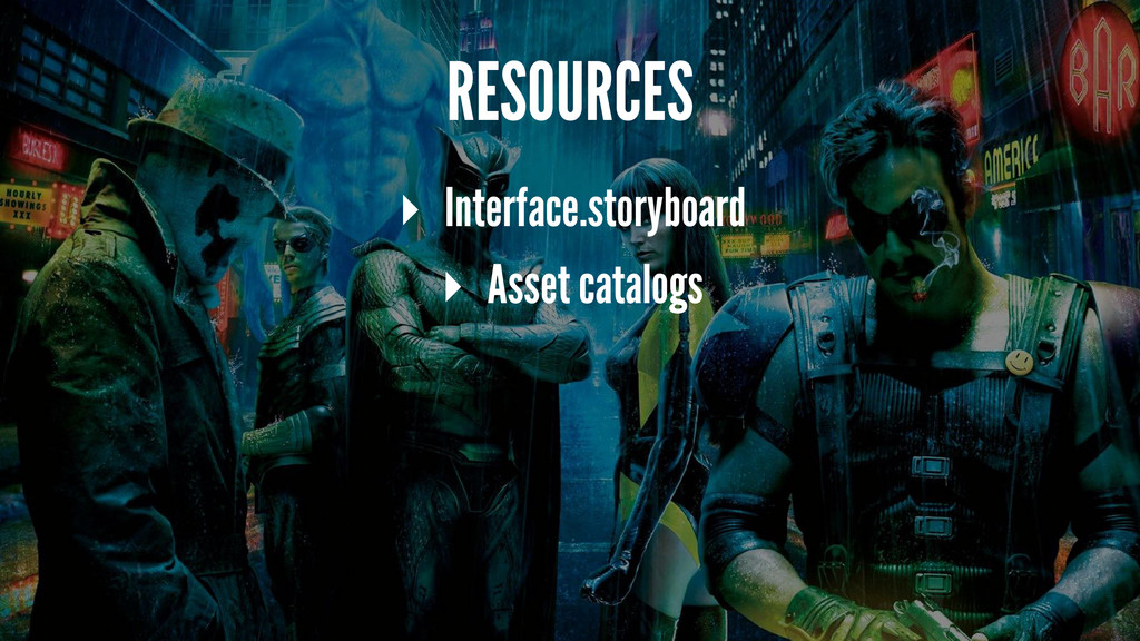 RESOURCES ▸ Interface.storyboard ▸ Asset catalo...