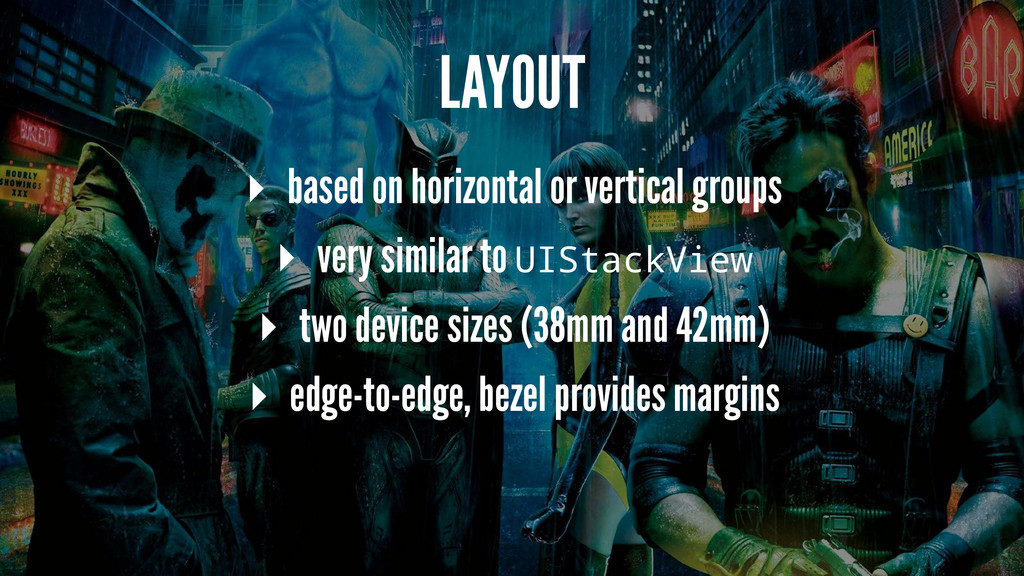LAYOUT ▸ based on horizontal or vertical groups...