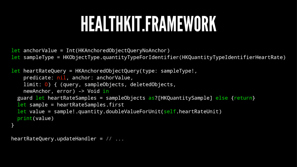 HEALTHKIT.FRAMEWORK let anchorValue = Int(HKAnc...