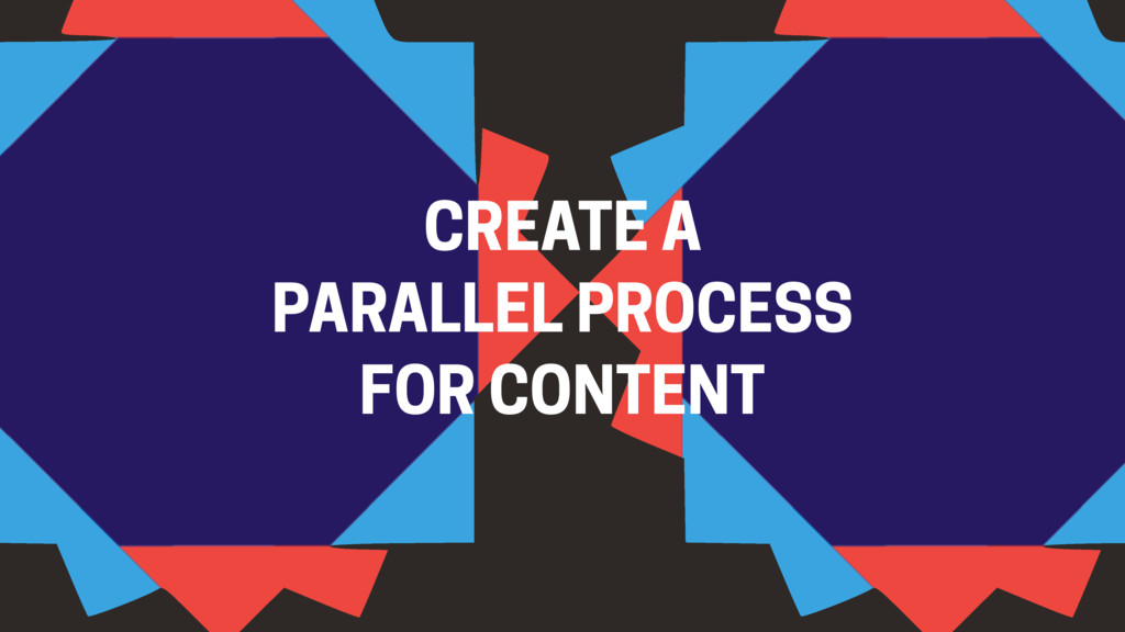 CREATE A PARALLEL PROCESS FOR CONTENT