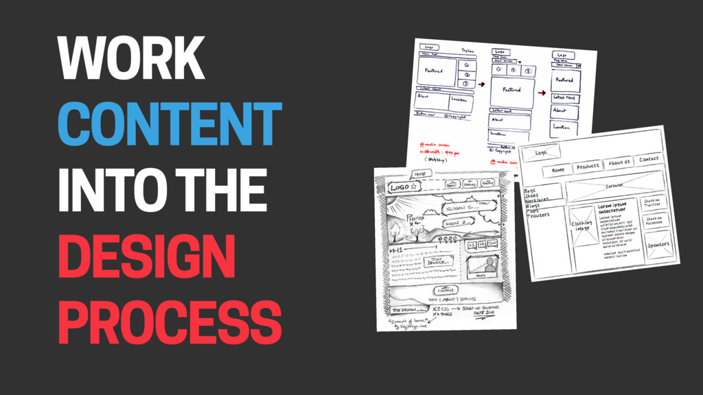 WORK CONTENT INTO THE DESIGN PROCESS