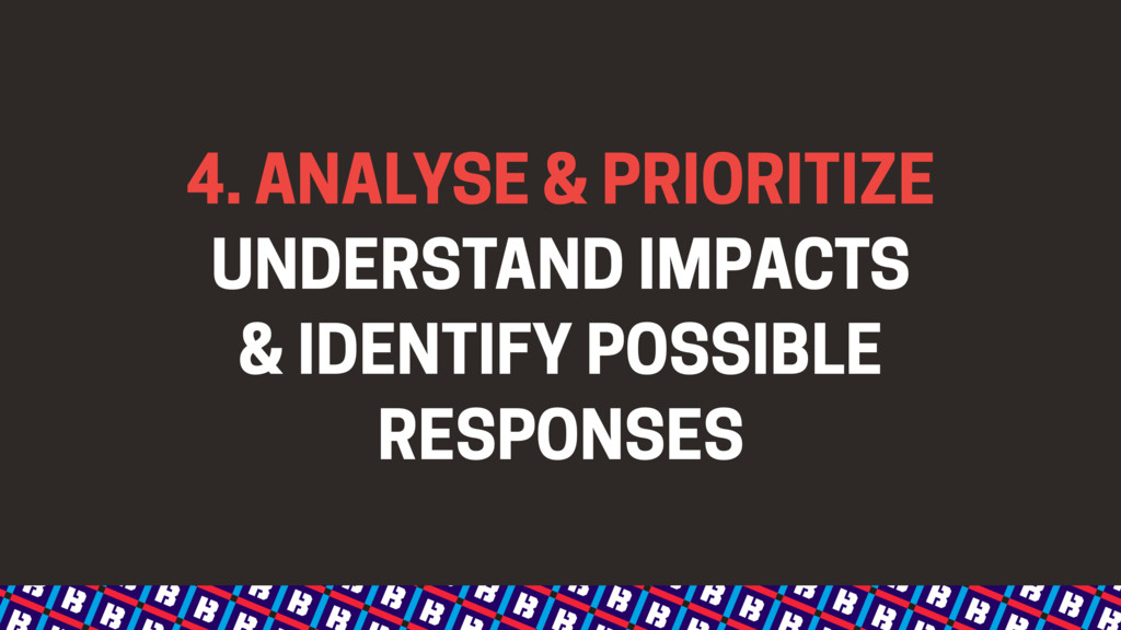 4. ANALYSE & PRIORITIZE UNDERSTAND IMPACTS & I...