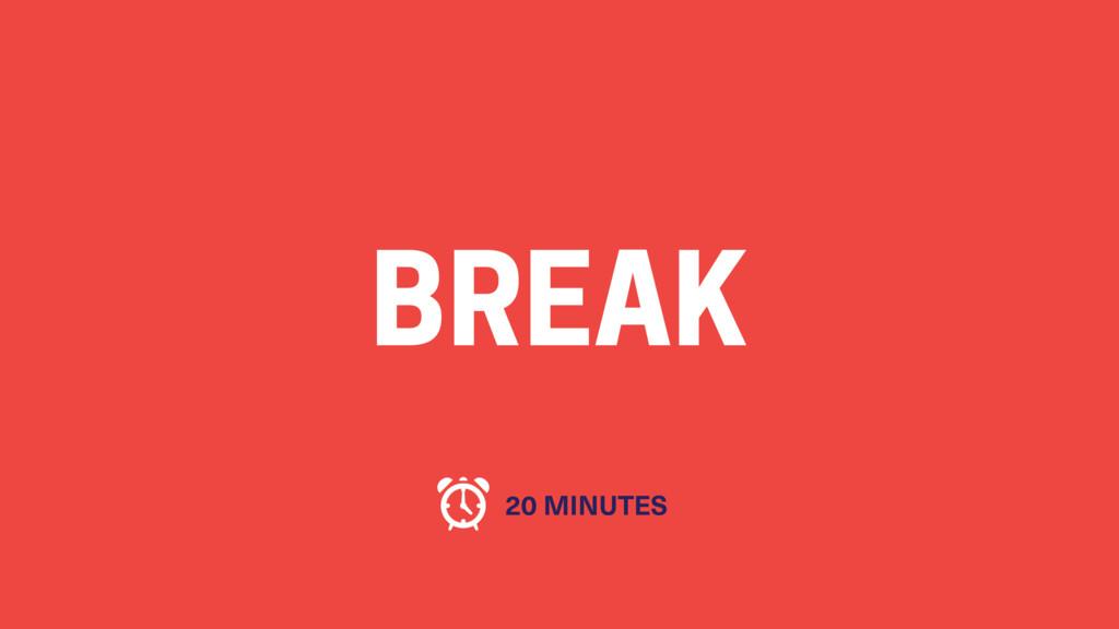 BREAK 20 MINUTES