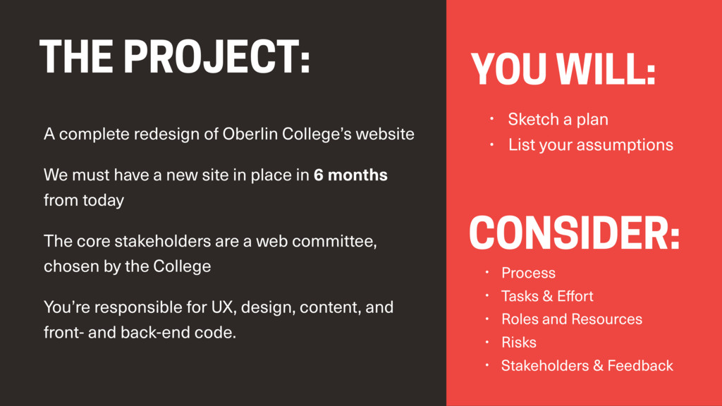 A complete redesign of Oberlin College's websit...