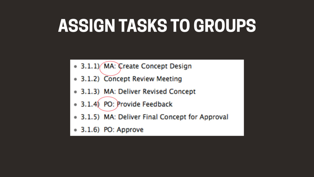 ASSIGN TASKS TO GROUPS
