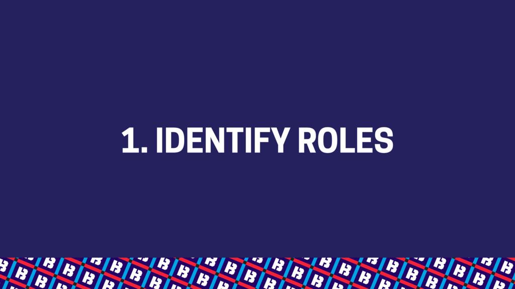 1. IDENTIFY ROLES
