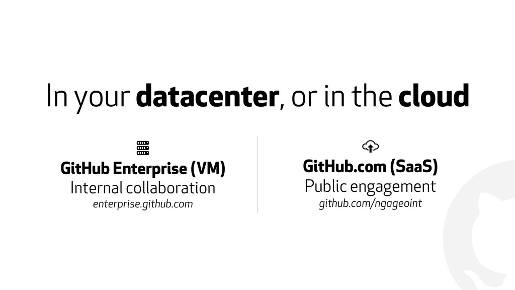 ! In your datacenter, or in the cloud &