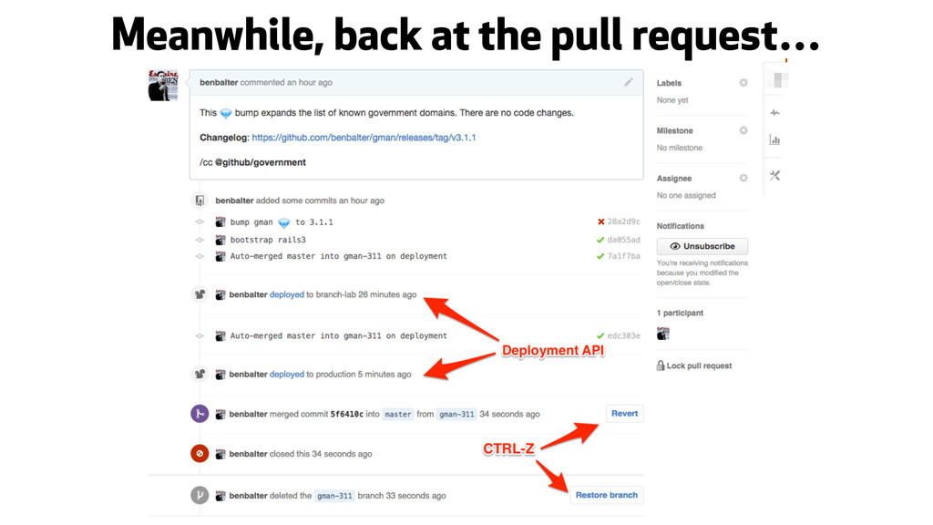 Meanwhile, back at the pull request…