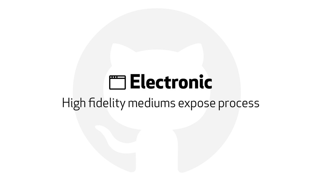 "! "" Electronic High fidelity mediums expose proc..."