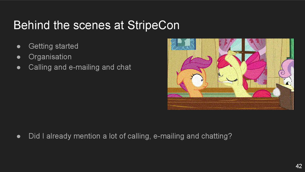 Behind the scenes at StripeCon ● Getting starte...
