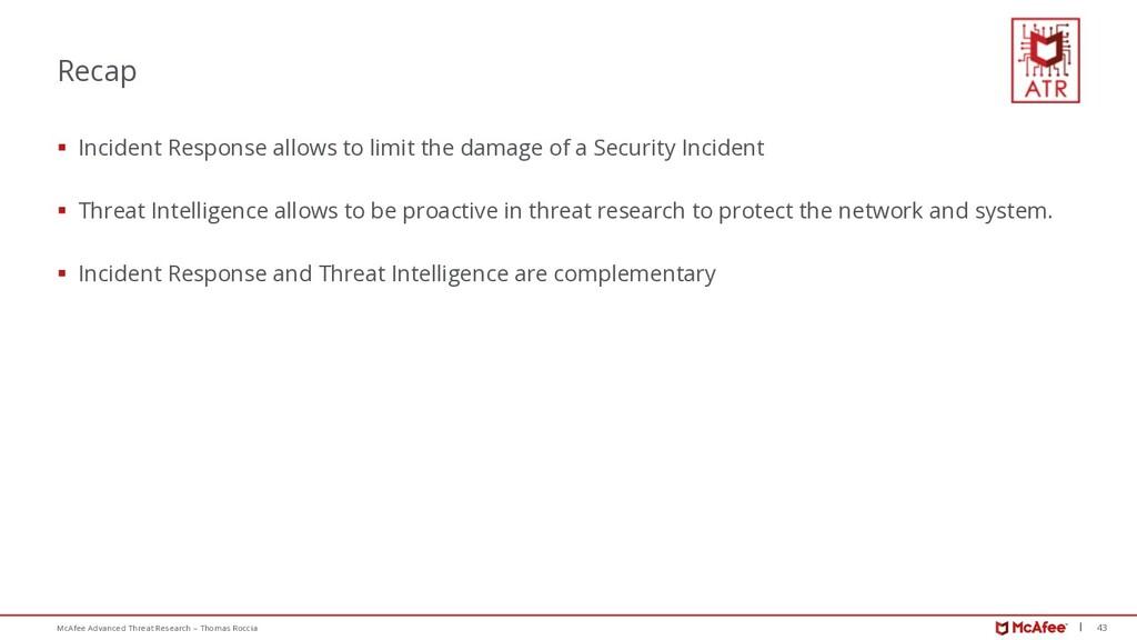 43 McAfee Advanced Threat Research – Thomas Roc...
