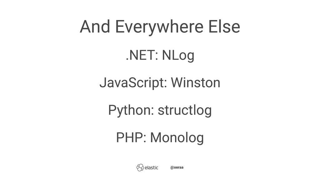 And Everywhere Else .NET: NLog JavaScript: Wins...