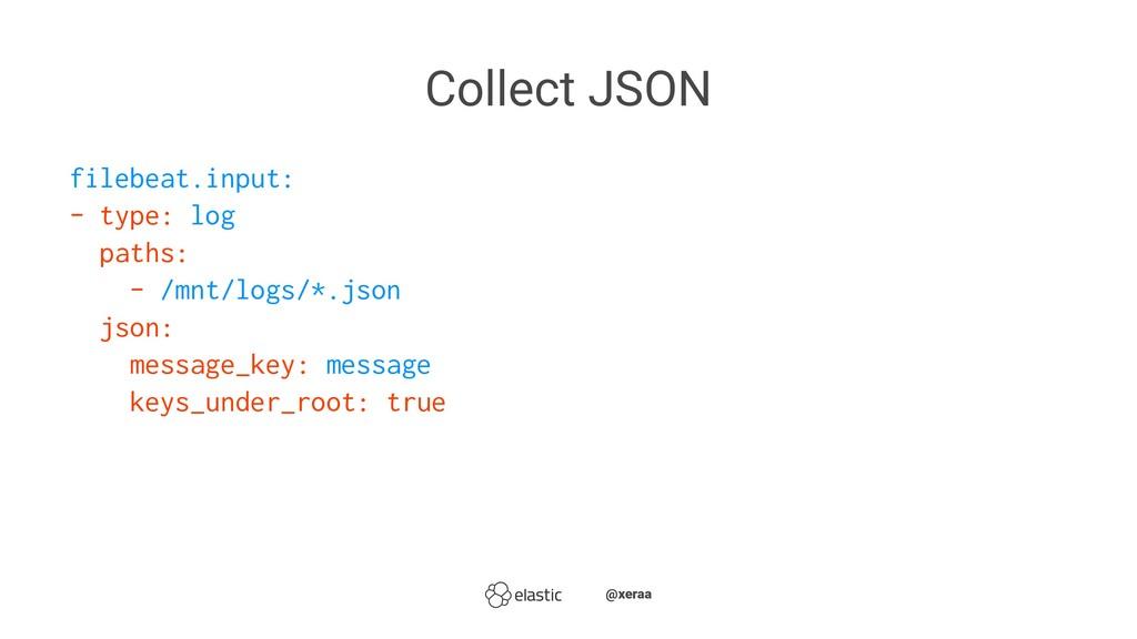 Collect JSON filebeat.input: - type: log paths:...