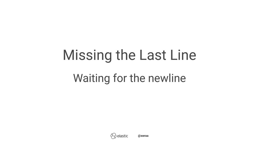 Missing the Last Line Waiting for the newline ̴...