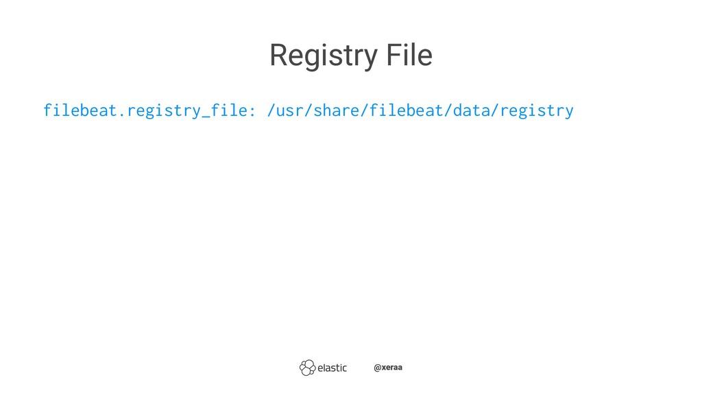Registry File filebeat.registry_file: /usr/shar...