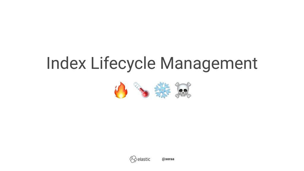 "Index Lifecycle Management ! "" ̴̴@xeraa"
