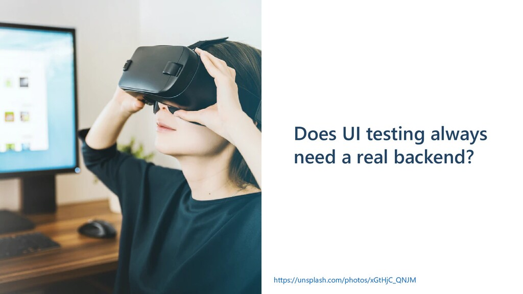 Does UI testing always need a real backend? htt...