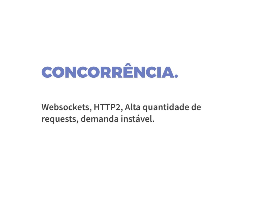 CONCORRÊNCIA. Websockets, HTTP2, Alta quantidad...