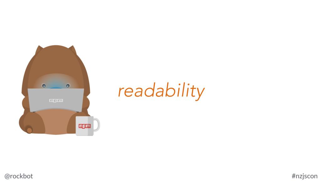 @rockbot #nzjscon readability