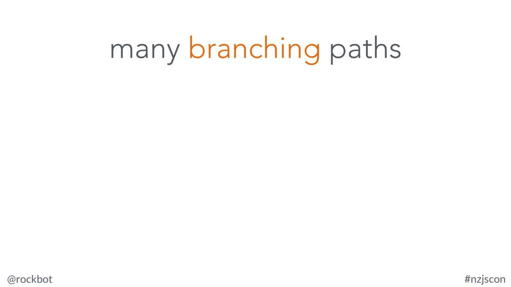 @rockbot #nzjscon many branching paths