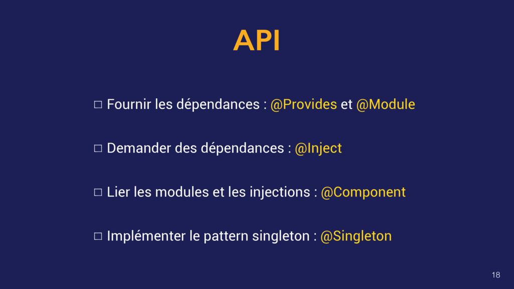 API Fournir les dépendances : @Provides et @Mod...