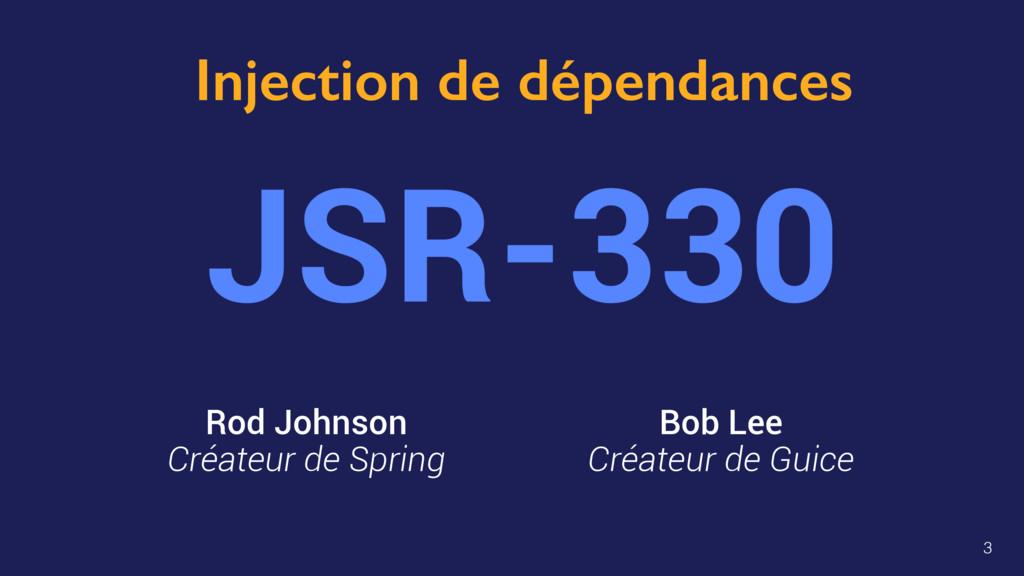 Injection de dépendances JSR-330 Bob Lee Créate...