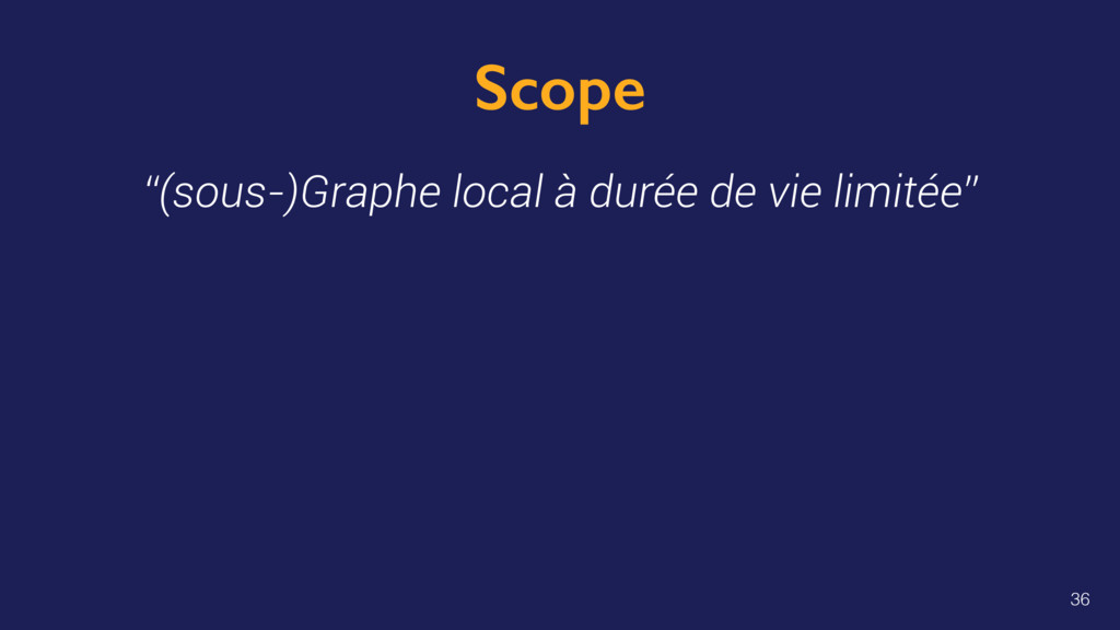 "Scope ""(sous-)Graphe local à durée de vie limit..."