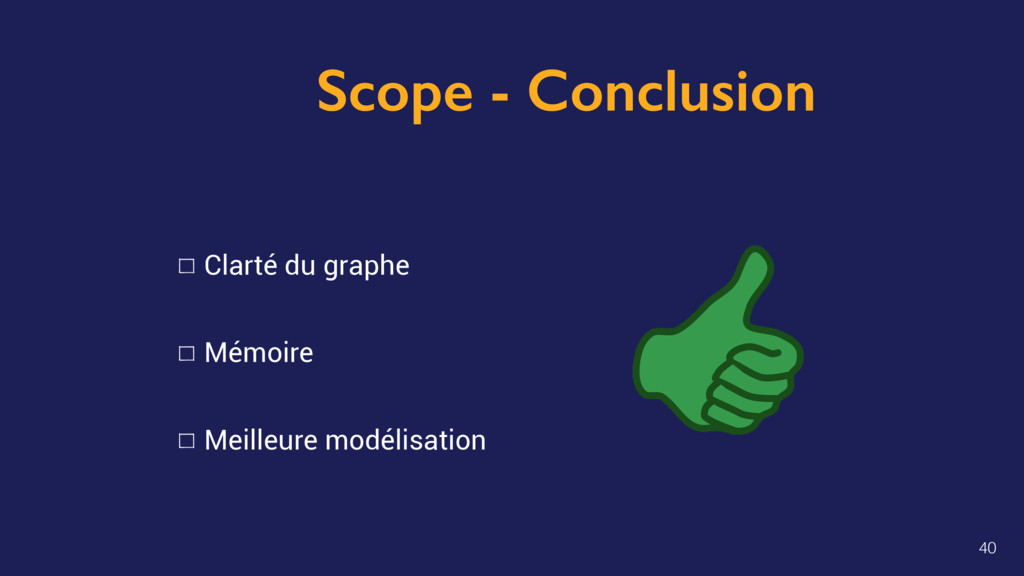 Scope - Conclusion Clarté du graphe Mémoire Mei...