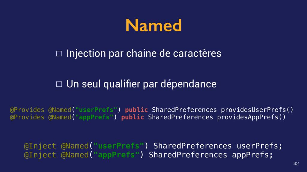 Named Injection par chaine de caractères Un seu...