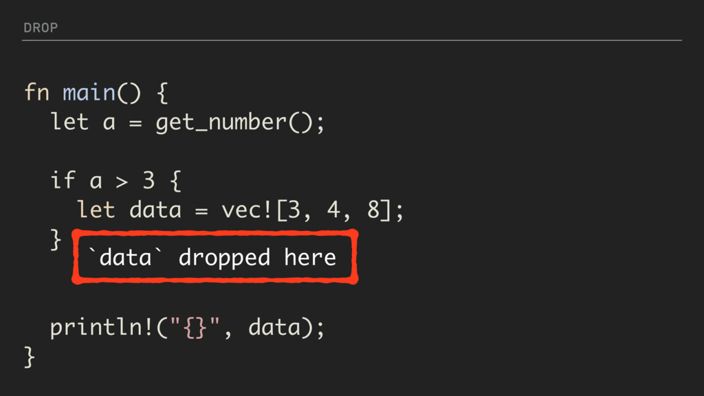 DROP fn main() { let a = get_number(); if a > 3...