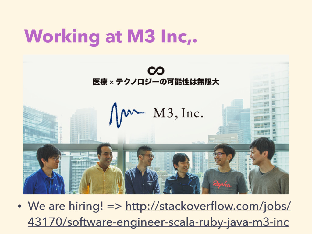 Working at M3 Inc,. • We are hiring! => http://...
