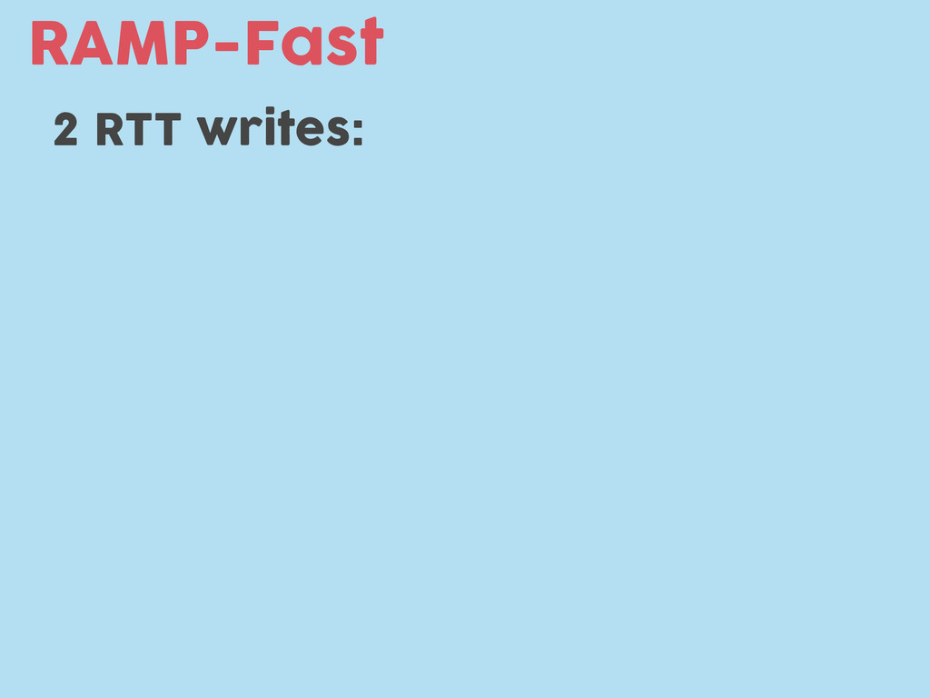 RAMP-Fast 2 RTT writes: